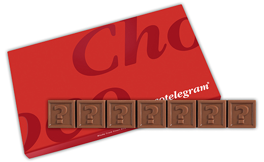 Chocotelegram 7 letters | Barry Callebaut chocolade | UTZ